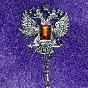 Vintage Phoenix pewter brooch